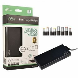 Adapter 65W Fortron NB Lite 65 slim univerzalni, USB