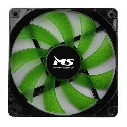 MS PC COOL 12cm zeleni LED hladnjak za kućište
