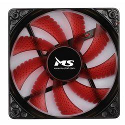 MS PC COOL 12cm crveni LED hladnjak za kućište