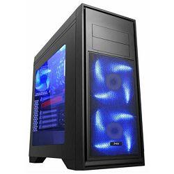 MS TITAN PRO gaming kućište plavi LED ventilatori