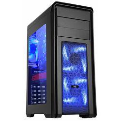 MS FALCON PRO midi tower gaming kućište plavi LED ventilator