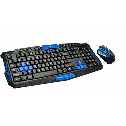 MS ACROBAT_2 crni bežični gaming set tipkovnica i miš