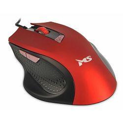 MS WAVE_2 žičani miš, crveni