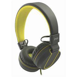 MS FEVER_2 slušalice s mikrofonom, sivo-žuta