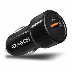 AXAGON PWC-QC car charger 1x QC3.0, 18W, crni