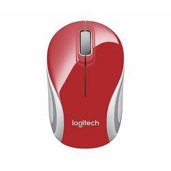 Miš bežični Logitech Mini M187, crvena