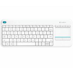 Tipkovnica bežična Logitech K400+ Wireless Touch bijela