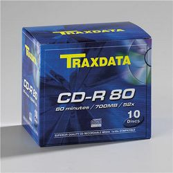 TRAXDATA OPTIČKI MEDIJ CD-R BOX 10