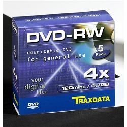 TRAXDATA OPTIČKI MEDIJ DVD-RW 4X BOX 5