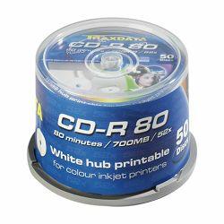 TRAXDATA OPTIČKI MEDIJ CD-R CAKE 50 WHITE FULL PRINTABLE