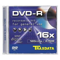 TRAXDATA OPTIČKI MEDIJ DVD-R 16X BOX 1