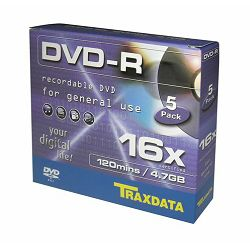 TRAXDATA OPTIČKI MEDIJ DVD-R 16X SLIM BOX 5