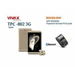 FISKALIZACIJA paket TPC-802 3G gold + POS printer SM