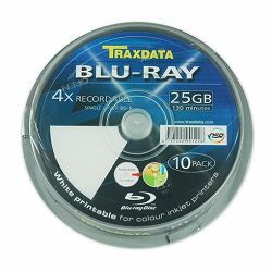 TRAXDATA OPTIČKI MEDIJ BLU RAY 25GB 4X PRINTABLE CAKE 10