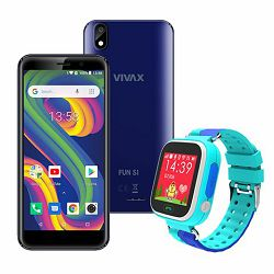 VIVAX Fun S1 blue +  CORDYS SMART KIDS WATCH Zoom blue