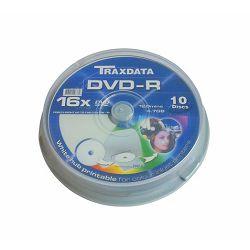 TRAXDATA OPTIČKI MEDIJ DVD-R PRINTABILNI CAKE 10