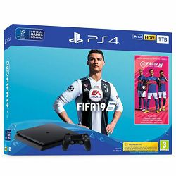 GAM SONY PS4 1TB Slim F chassis + FIFA 19 Stnd. Ed. + 14 Days PS Plus