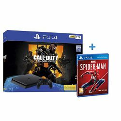 GAM SONY PS4 1TB F chassis + Call of Duty: Black Ops 4 + Spiderman