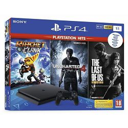 GAM SONY PS4 1TB F + Ratchet and Clank, The Last of Us, Uncharted 4