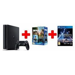 GAM SONY PS4 500GB F Chassis Black + DS+Fortnite VCH + Star Wars