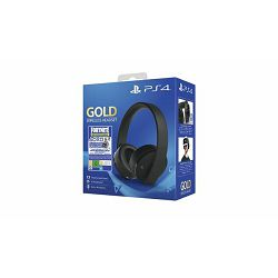 GAME PS4 PS4 Wireless Gold Headset Black + FortniteVCH (2019)