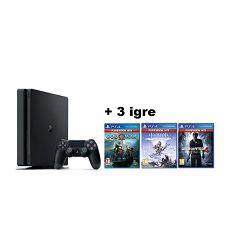 GAM SONY PS4 500GB + God of War + Uncharted 4 + Horizon Zero
