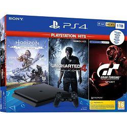 GAM SONY PS4 1TB F + GT sport + Horizon + Uncharted 4