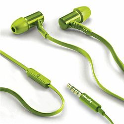Celly Stereo Earphones 3.5mm Lime
