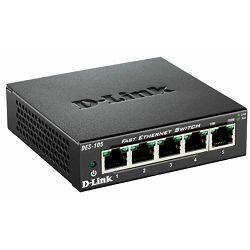 D-Link switch neupravljivi,DES-105/E (metalno kućište)