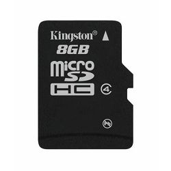 Memorijska kartica  Kingston SD MICRO 8GB HC Class 4 + SD ad