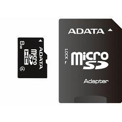 Memorijska kartica Adata SD MICRO 8GB HC Class4 + 1ad