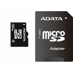 Memorijska kartica Adata SD MICRO 32GB HC Class4 +1ad