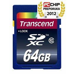 Memorijska kartica Transcend SD 64GB XC SPD Class 10