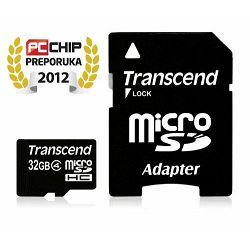 Memorijska kartica Transcend SD MICRO 32GB HC Class4 + SD ad