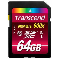 Memorijska kartica Transcend SD 64GB XC SPD Class UHS1