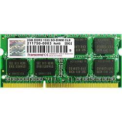 Memorija Transcend SO-DIMM DDR3 2GB 1333MHz, TS256MSK64V3U