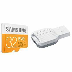 Memorijska kartica Samsung SD micro 32GB EVO + USB 2.0