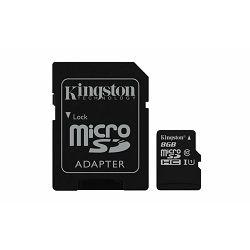 Memorijska kartica  Kingston SD MICRO 8GB Class 10 UHS-I + a