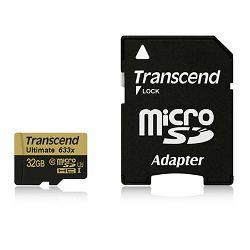 Mem. kartica Transcend SD MICRO 32GB HC UHS  U3 + SD adapter