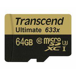 Memorijska kartica Transcend SD MICRO 64GB HC Class10 + SD a