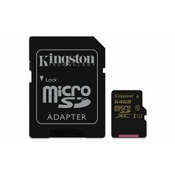 Memorijska kartica  Kingston SD MICRO 64GB HC  +ad UHS-I U3