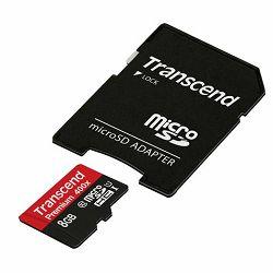 Memorijska kartica Transcend  SD MICRO 8GB HC Class 10 U1 +