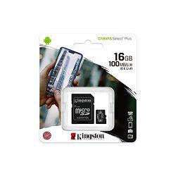 Memorijska kartica  Kingston SD MICRO 16GB Class 10 UHS-I  Plus