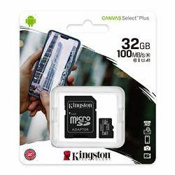 Memorijska kartica  Kingston SD MICRO 32GB Class 10 UHS-I Plus