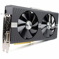 SAPPHIRE Video Card AMD RADEON NITRO+ RADEON RX 580 8G GDDR5 DUAL HDMI / DVI-D / DUAL DP W/BP (UEFI)
