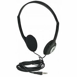 Stereo Headphones, Lightweight and adjustable with cushioned earpads