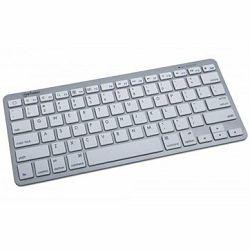 Keyboard, Tablet Mini Keyboard, Bluetooth, White/Silver, US layout