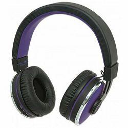 Sound Science Cosmos Comfort-Fit Wireless Headphones, Lightweight Headphones with Wireless Bluetooth Technology, Black-Purple