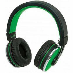 Sound Science Cosmos Comfort-Fit Wireless Headphones, Lightweight Headphones with Wireless Bluetooth Technology, Black-Green