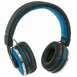 Sound Science Cosmos Comfort-Fit Wireless Headphones, Lightweight Headphones with Wireless Bluetooth Technology, Black-Blue